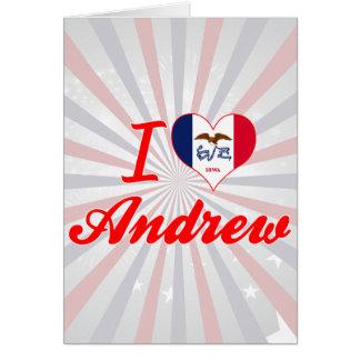 Amo a Andrew, Iowa Tarjeta De Felicitación