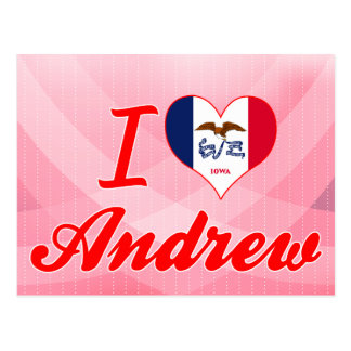 Amo a Andrew, Iowa Tarjetas Postales