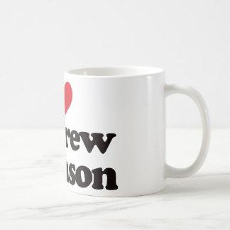 Amo a Andrew Johnson Tazas De Café