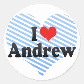 Amo a Andrew Pegatina Redonda