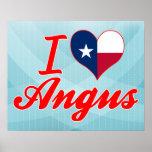 Amo a Angus, Tejas Impresiones
