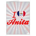 Amo a Anita, Iowa Tarjetas