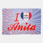Amo a Anita, Iowa Toallas De Mano