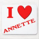 Amo a Annette Alfombrilla De Ratón