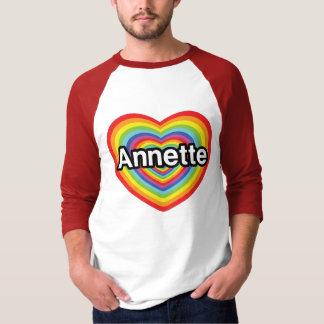 Amo a Annette, corazón del arco iris Playera