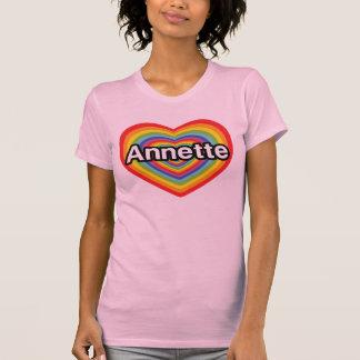 Amo a Annette, corazón del arco iris Remeras