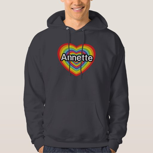 Amo a Annette, corazón del arco iris Sudadera