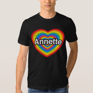 Amo a Annette. Te amo Annette. Corazón Polera