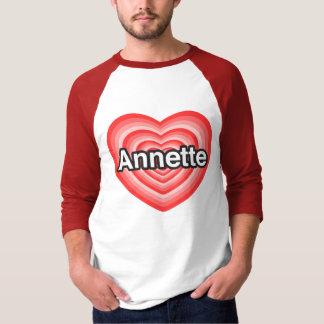 Amo a Annette. Te amo Annette. Corazón Poleras