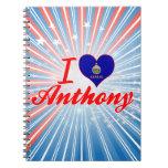 Amo a Anthony, Kansas Libreta Espiral