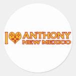 Amo a Anthony, nanómetro Pegatina Redonda