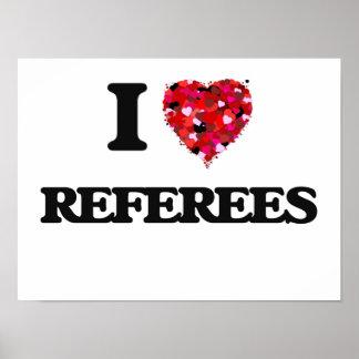Amo a árbitros póster