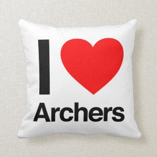 amo a archers cojín