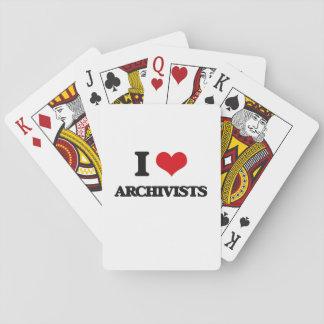 Amo a archivistas cartas de juego