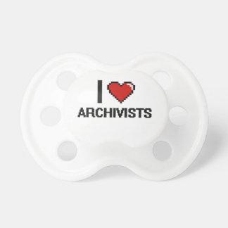 Amo a archivistas chupetes de bebé