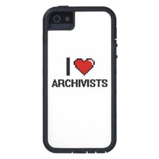 Amo a archivistas iPhone 5 cárcasas