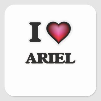 Amo a Ariel Pegatina Cuadrada