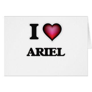 Amo a Ariel Tarjeta De Felicitación