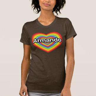 Amo a Armando, corazón del arco iris T-shirt