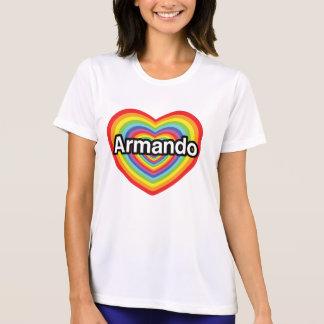 Amo a Armando, corazón del arco iris Camiseta