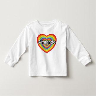 Amo a Armando, corazón del arco iris Tshirt