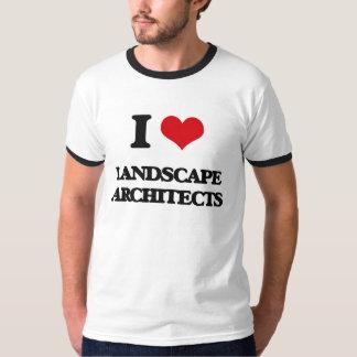 Amo a arquitectos paisajistas camisas
