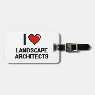 Amo a arquitectos paisajistas etiquetas para maletas