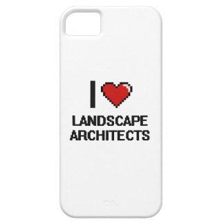 Amo a arquitectos paisajistas iPhone 5 funda