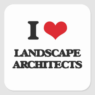 Amo a arquitectos paisajistas pegatina cuadrada