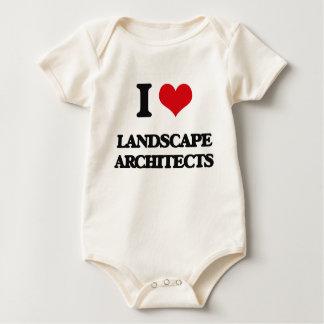 Amo a arquitectos paisajistas traje de bebé