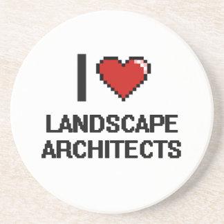 Amo a arquitectos paisajistas posavasos diseño