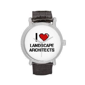 Amo a arquitectos paisajistas relojes