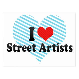 Amo a artistas de la calle tarjeta postal