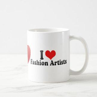Amo a artistas de la moda taza