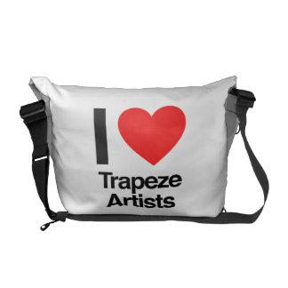 amo a artistas de trapecio bolsa de mensajería