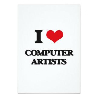 """Amo a artistas del ordenador invitación 3.5"""" x 5"""""""