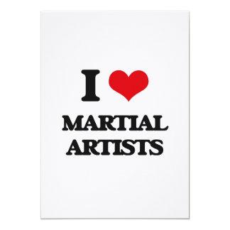 Amo a artistas marciales invitación 12,7 x 17,8 cm