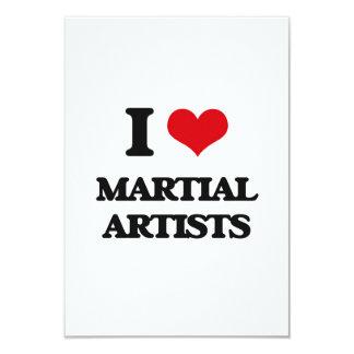Amo a artistas marciales invitación 8,9 x 12,7 cm