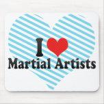 Amo a artistas marciales tapete de ratones