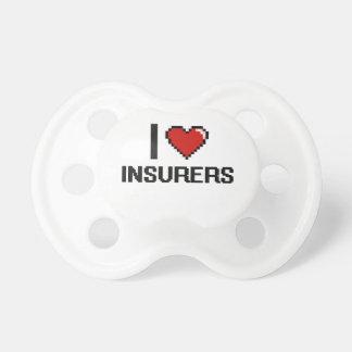 Amo a aseguradores chupetes para bebes