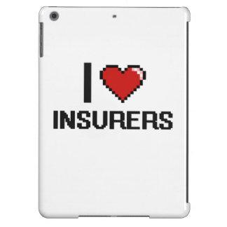Amo a aseguradores funda para iPad air