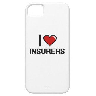 Amo a aseguradores iPhone 5 fundas