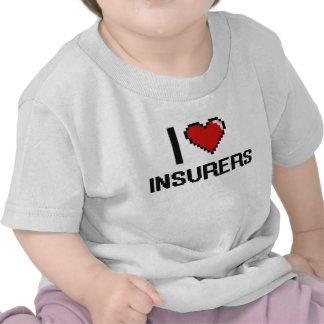 Amo a aseguradores camiseta
