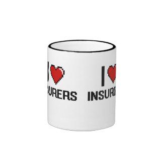 Amo a aseguradores taza a dos colores
