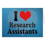 Amo a asistentes de investigación felicitacion