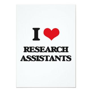 "Amo a asistentes de investigación invitación 5"" x 7"""