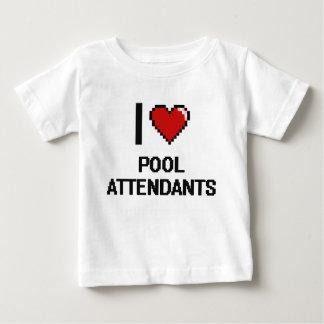 Amo a asistentes de la piscina playeras
