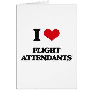 Amo a asistentes de vuelo tarjetas