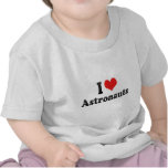 Amo a astronautas camisetas