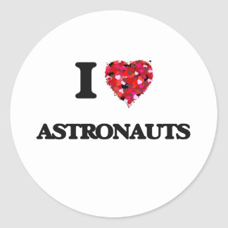 Amo a astronautas pegatina redonda